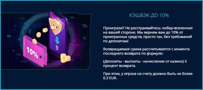 Бонусы Mr Bit casino казино: кэшбэк 10% для каждого зарегистрированного игрока